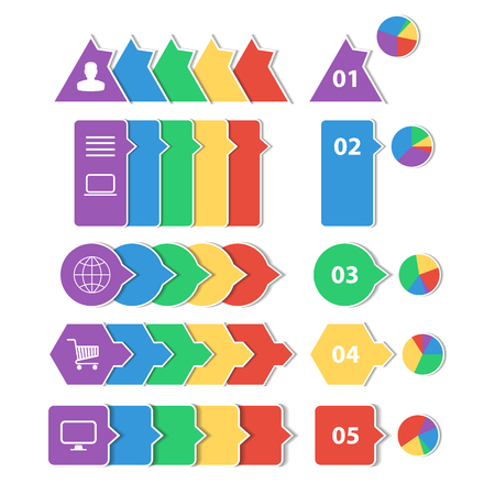 Flat design geometric infographic templates for business background, banners, website  Vector
