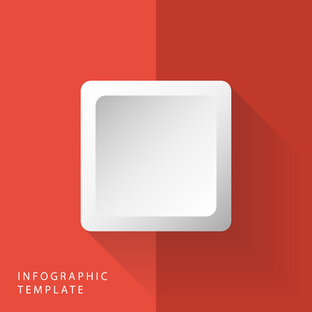 abstract 3d square info graphic template on red background royalty