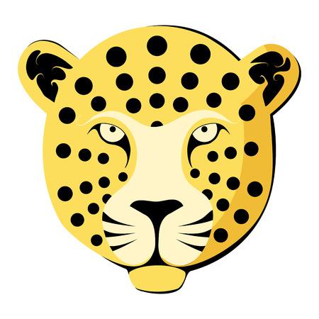leopard head: Leopard head. Color vector illustration.
