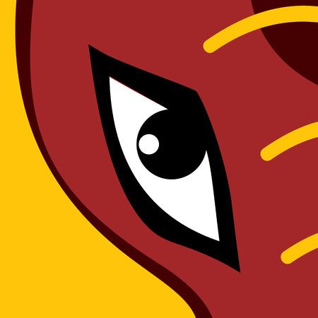 animal eye: Occhio Animal. Colore illustrazione vettoriale.