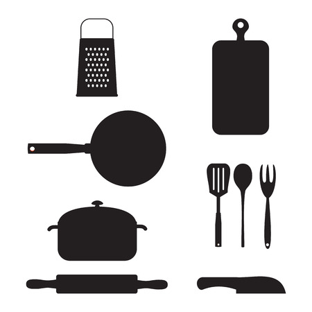 fryer: Kitchen stuff. Vector illustration.