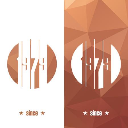 Since 1979. Design vector illustration. Vector
