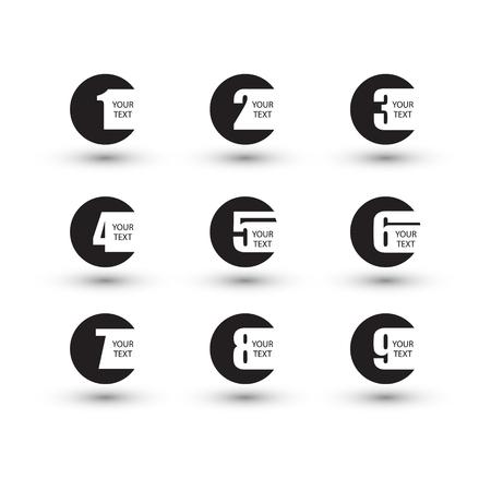 Nummers in te stellen. Ontwerp vector illustratie.