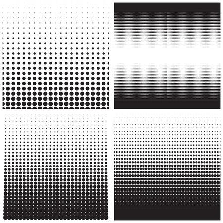 Vector halftone punten. Zwarte stippen op een witte achtergrond.