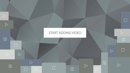 adding: Start adding video. Abstract gray polygonal geometric background for website.