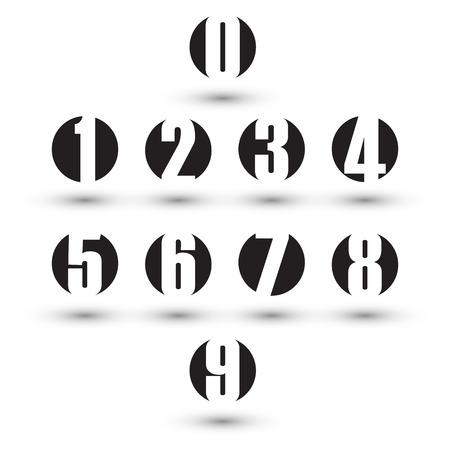 numero uno: Números fijados. Diseño ilustración vectorial. Vectores