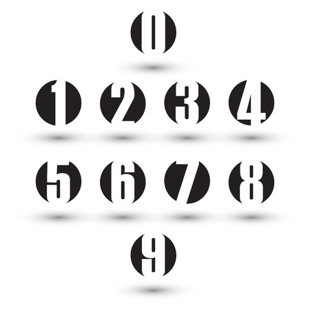 number seven: Numbers set. Design vector illustration.