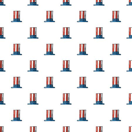 uncle sam hat: Uncle Sam hat seamless pattern.