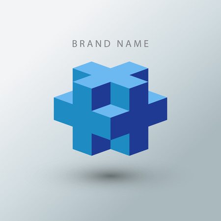 Cube logo design template.