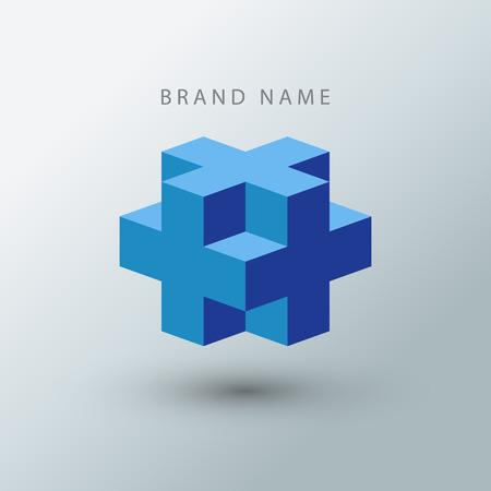 logotipo de construccion: Cubo logotipo de la plantilla de dise�o.