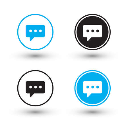 buttons vector: Chat icons. Chat buttons. Vector illustration. Illustration