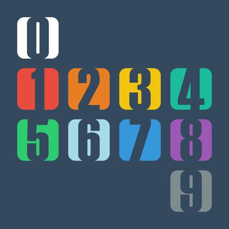 nombres: Des numéros fixes. Conception illustration vectorielle.