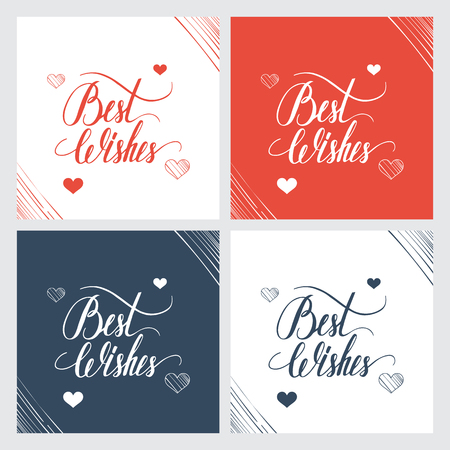 best wishes: Best wishes hand lettering, handmade calligraphy. Vector illustration. Illustration