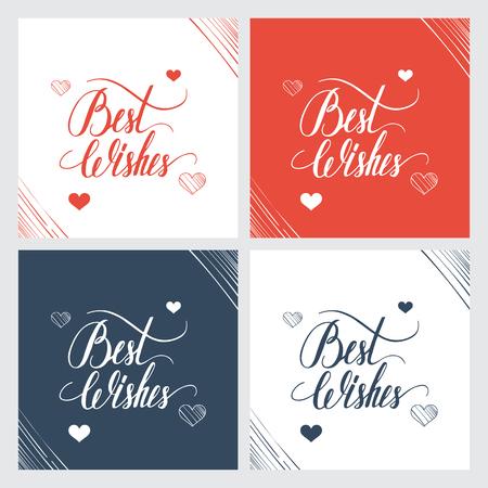 Meilleur lettrage souhaits de la main, la calligraphie à la main. Vector illustration. Banque d'images - 46149678
