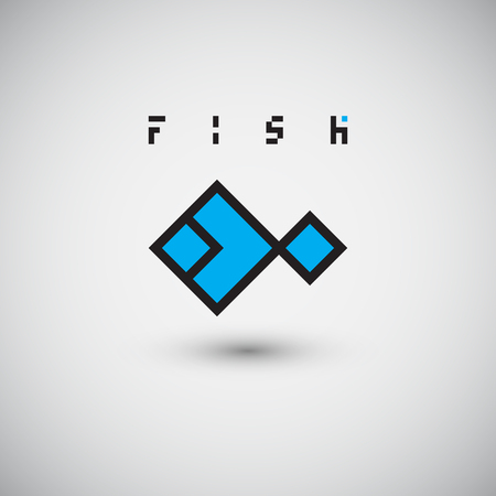 logo poisson: Logo poissons. Résumé modèle de vecteur de conception.