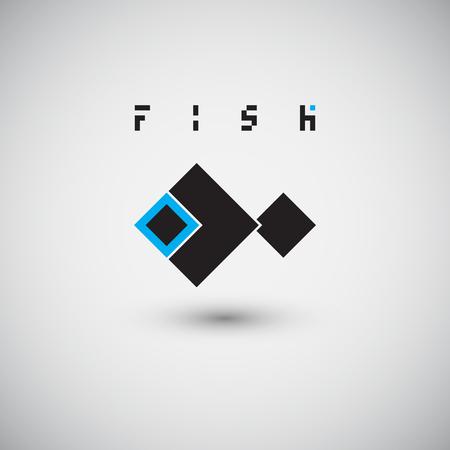 logo poisson: Fish Logo. Abstract design vector template. Illustration