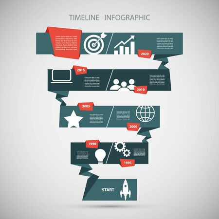 set the intention: Timeline infographic design template.Vector illustration for workflow layout, diagram, number options, web design. Illustration