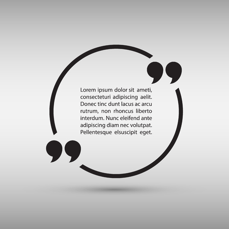 text bubble vector: Quote text bubble on gray background. Vector illustration.