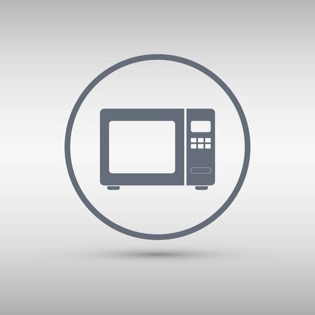 microwave ovens: Microwave icon. Vector illustration. Illustration