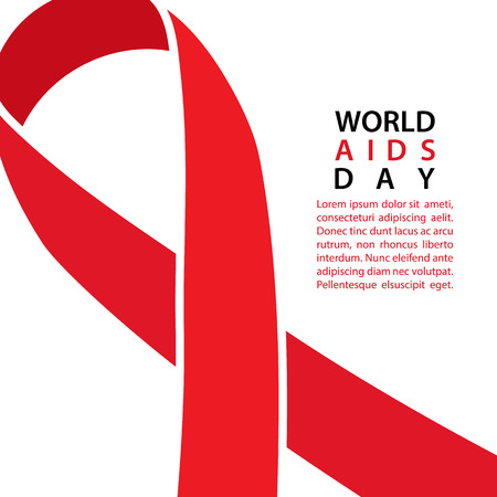 black ribbon bow: AIDS awareness ribbon. World AIDS Day background. Vector illustration.