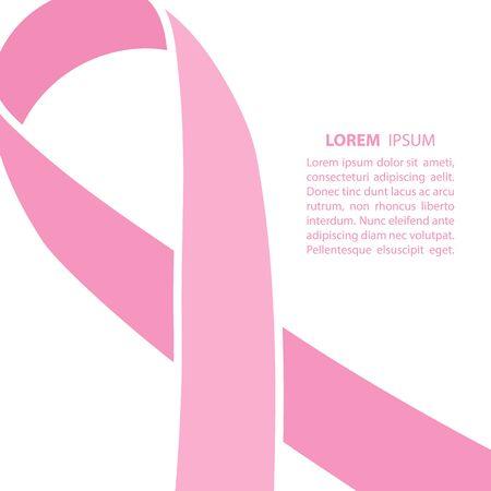 cancer de mama: cinta del cáncer de mama. fondo del cáncer de mama. Ilustración del vector.