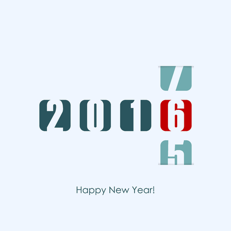 new year counter: 2016 new year counter. Vector illustration.