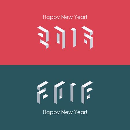 calendrier: Bonne ann�e 2016 conception de texte isom�trique. Vector illustration.