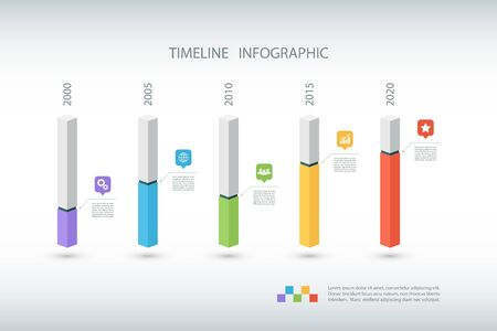time square: Timeline infographic design template.