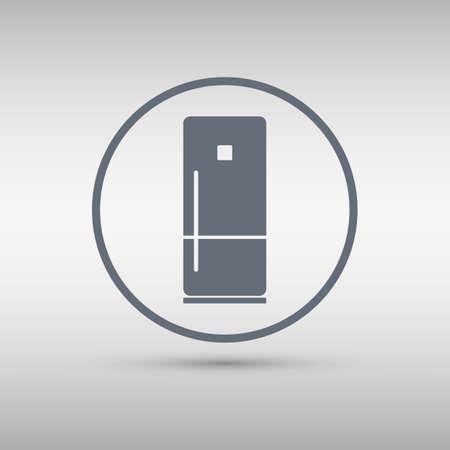 refrigerator: Refrigerator icon. Vector illustration.