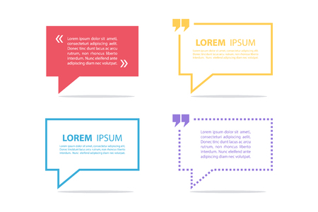 set form: Set of quote text bubble template. Quote bubble. Quote form. Vector illustration.