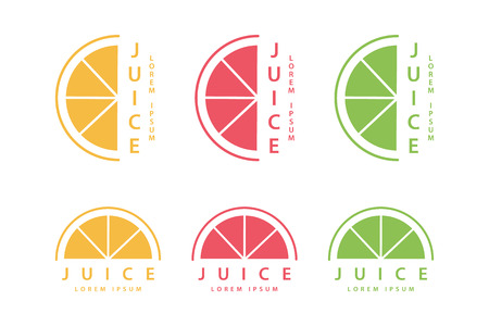 fruit drink: Lime or lemon fruit drink icon template design. Vector illustration. Illustration
