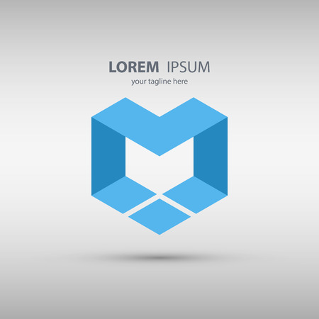 Letter M abstract design logo icon. Vector illustration.