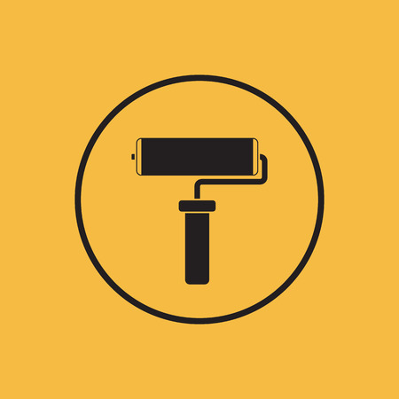 adorning: Paint roller icon. Vector illustration.