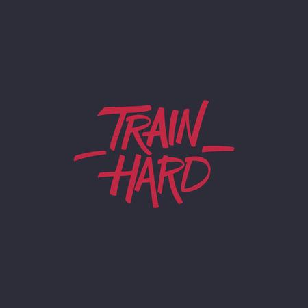 ハード列車。トレーニング、フィットネス動機引用。