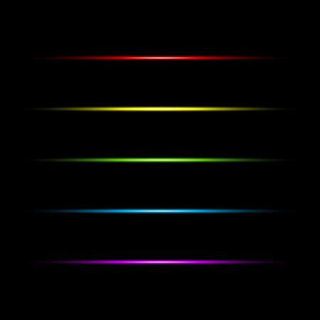 Set of glow line light effect.