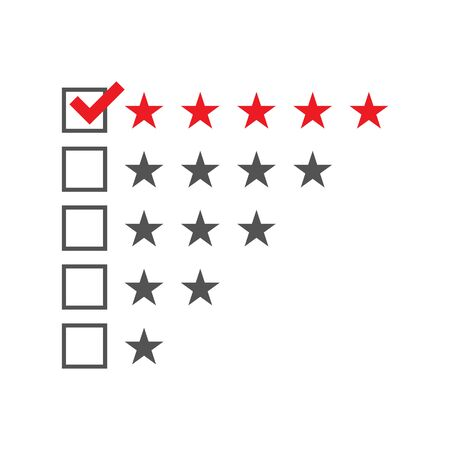 star rating: Five star rating template. illustration.