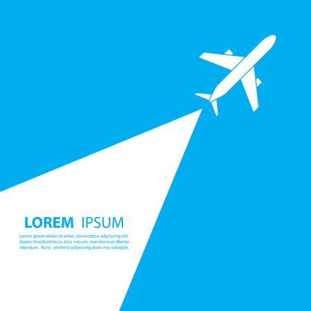 diseño del logotipo del avión. diseño del logotipo de la aerolínea. recorrido, logotipo de la agencia de viajes, vector plantilla de logotipo.