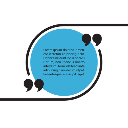 graphics design: Quote text bubble on white background. Quote bubble template. Quote blank template. Quote bubble. Empty template. Circle quote form. Vector illustration. Illustration