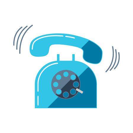 ringing phone: Ringing telephone. Ringing phone. Flat vector illustration. Illustration