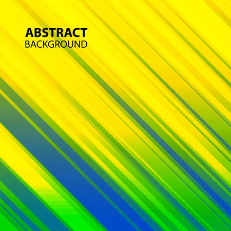 lineas rectas: Vector abstract background with straight lines in Brazil flag colors.