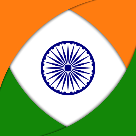 hindustan: Vector background with Indian national flag colors and elements.