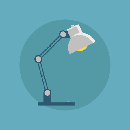Table lamp icon. Desk lamp. Flat  illustration. Illustration