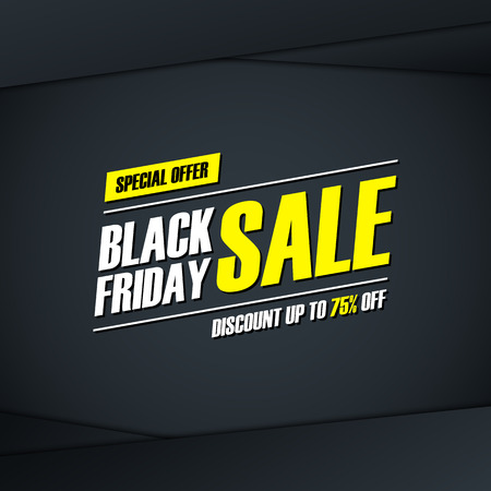 Black Friday Sale. Special offer , discount up to 75% off. for business, promotion and advertising. illustration.