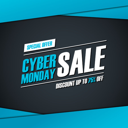 Cyber Monday Sale. Special offer , discount up to 75% off. for business, promotion and advertising. illustration.