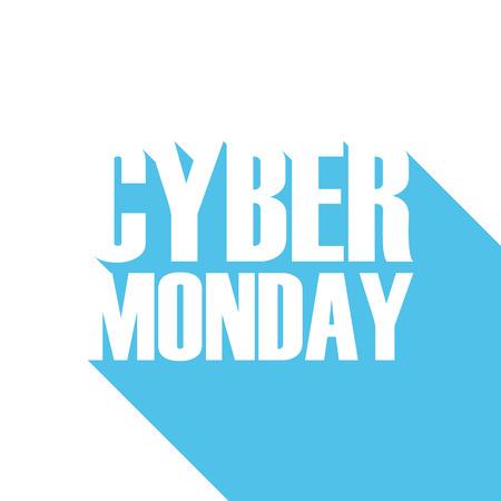 Cyber Monday verkoop voor het bedrijfsleven, promotie en reclame. illustratie.