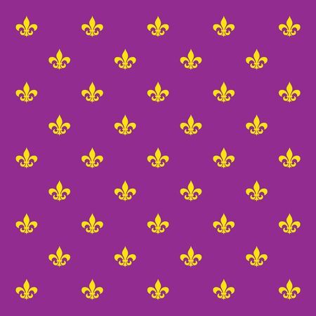 royal french lily symbols: Mardi Gras holiday background with Fleur De Lis sign pattern. Vector illustration.