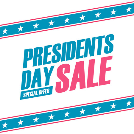 Presidents Day Sale special offer banner for business, promotion and advertising. Vector illustration. Stock Vector - 70665506