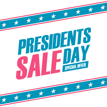 Presidents Day Sale special offer banner for business, promotion and advertising. Vector illustration. Stock Vector - 70665508