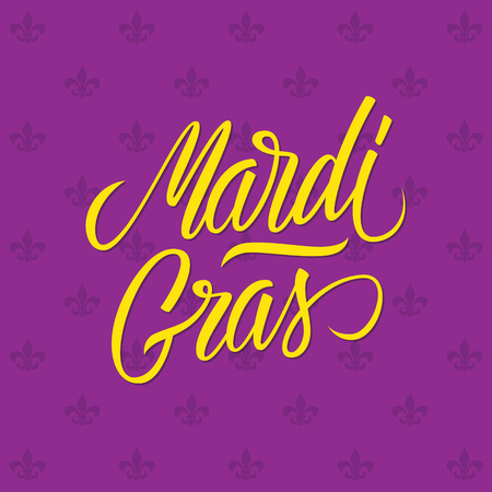 new orleans: Mardi Gras calligraphic lettering design card template. Creative typography for holiday greetings. Vector illustration. Illustration