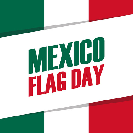 american history: Mexico Flag Day holiday banner. Vector Illustration.